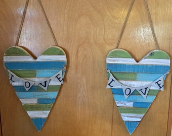 Blue Hearts with LOVE banner