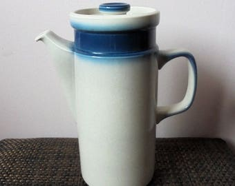 Blue Pacific Tea Pot /Coffe Pot by Wedgwood  .Mid Century.Retro Tea Pot.Ceramic Tea Pot