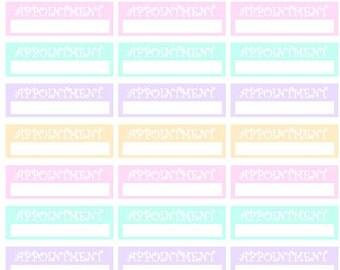 Appointment // Erin Condren // Personal Filofax // Stickers
