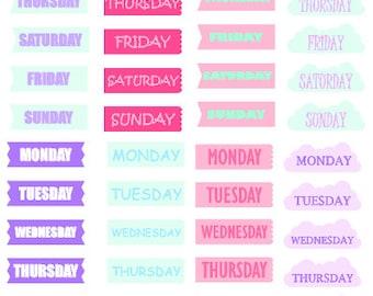 Week Days // Happy Planner // Stickers // Personal Filofax // Erin Condron // Planner