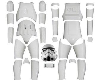 Star Wars Stormtrooper Costume Armour - Original Replica - A New Hope - Kit Version 2 WITH REPLICA HELMET