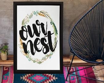 "8""x10"" Our Nest Print"