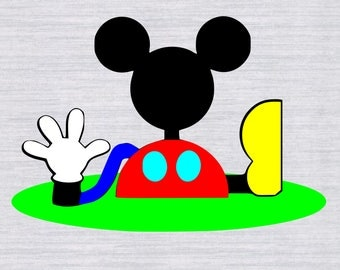 Mickey Mouse Clubhouse SVG , Mickey Mouse SVG, Mickey head svg,  Disney svg files, svg files for silhouette, files for cricut, dxf, clipart