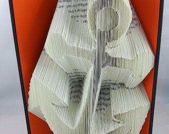 folded book - motif: anchor - book-sculpture - art book