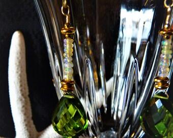 Peridot and Wella Opal Earrings