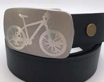 Bike belt buckle Stainless steel belt buckle replaceable buckle gift for him cycling belt buckle silver buckle metal belt buckle