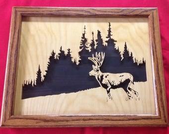 Wilderness Wooden Portrait