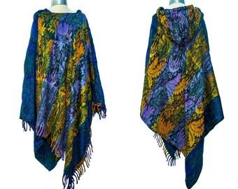 Beautiful, Warm, Fairly Traded, Ethically Sourced Blanket Poncho - 100% Acrylic - Fashion - Boho