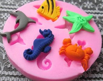 Sea Animals Silicone Mold