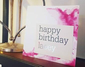 Personalised Happy Birthday