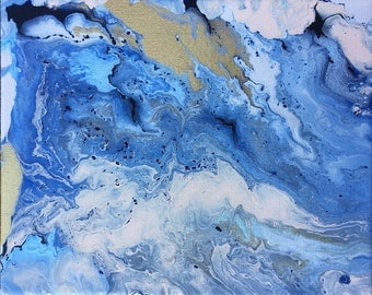 Blue Marble Painting