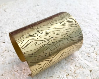 BRACELET ENGRAVED BRASS