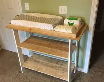 Handmade baby changing table