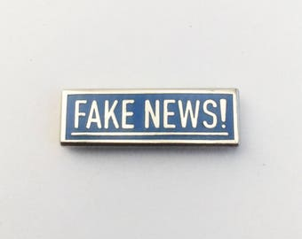 Fake news enamel pin | Fake news! Enamel pin, anti trump pins, not my president, resist, lapel pin, hat pin, internet, memes