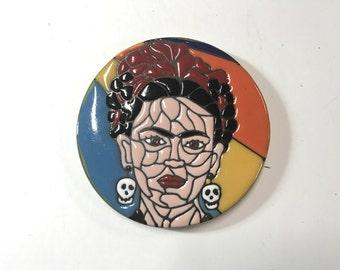 Frida Kahlo Clay Coasters