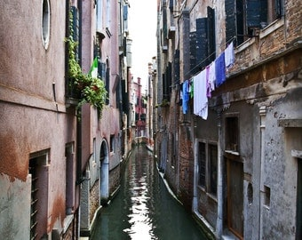 Venice Italy Narrow Canal Print/Canvas