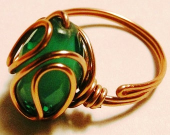 Green copper wire ring