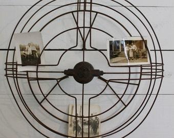 GE Fan Cage / Vintage Rustic Fan Cage/1930's fan cage/Farmhouse Decor