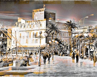 Hotel de la Tour II, 5 designs, Sanary-sur-Mer, Cote d'azur, France, abstract, painting, photography, Mixedmedia, assemblage