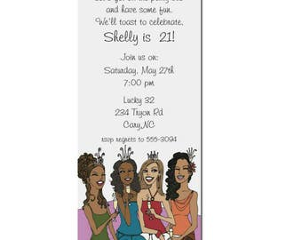 African American Party Invitation | African American Birthday Party Invitation | 21st Birthday | Party Bus | Girls Night Out | 30th Birthday