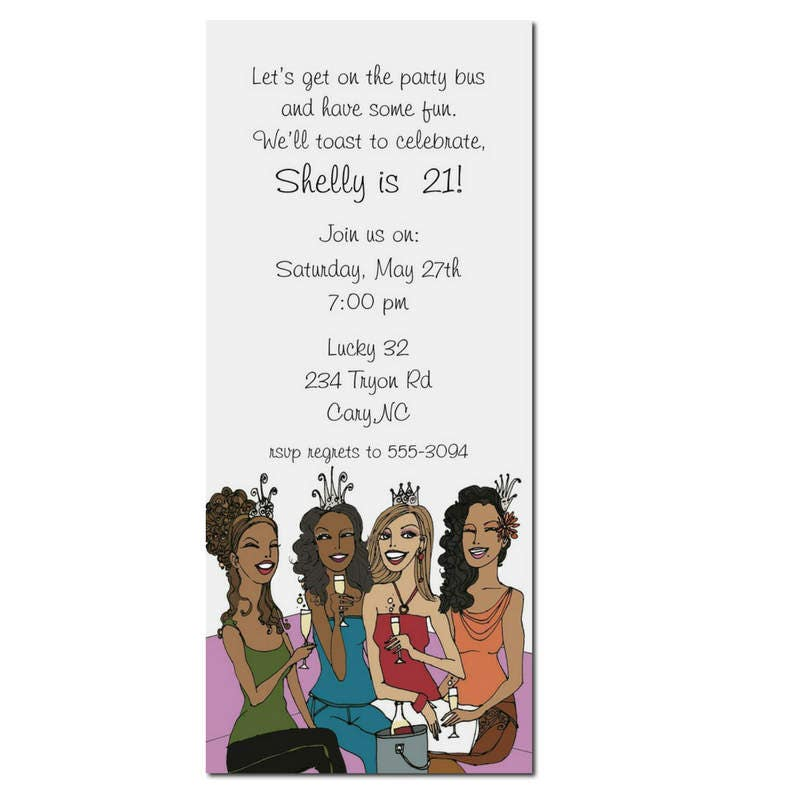 African American Party Invitation African American Birthday