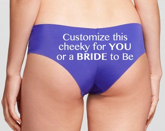 CUSTOMIZE this panties for You or the Bride to Be, Lingerie, Bridal Shower Gift, Bachelorette Party Gift, Personalized Panties, Underwear