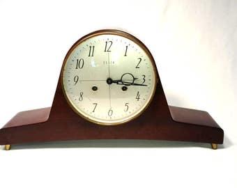 Mid-Century Modern Elgin Mantel/Shelf Windable Clock