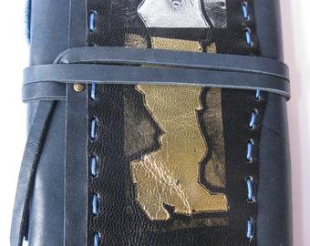 Handmade Leather Journal Charlie Chaplin A5