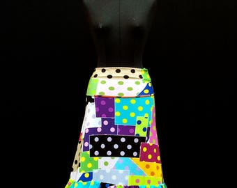 Flamenco skirt dotted with mine: