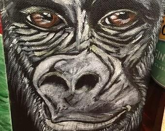 Gorilla in Acrylic Paint