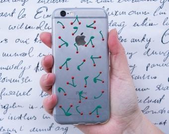 Phone case IPhone 6, samsung galaxy s7 case, IPhone 7 Plus, cherry phone case, berries case, IPhone 5 5s 5c, IPhone 6 Plus, girlfriend gift