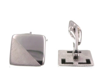 Square silver cufflinks 925 cuffs for men's ceremony-cufflinks