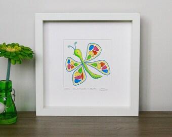 Paint Palette Butterfly - Small (Unframed)