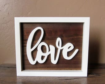 wooden love script sign script wood letters script word wood sign cursive word wood sign love sign