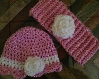 Matching girl'scout headband and hat for her doll