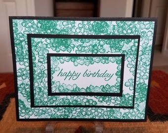 Handmade Triple Layer Happy Birthday Card with Envelope