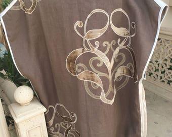 Repurposed designer fabric, embroidered, handmade jacket