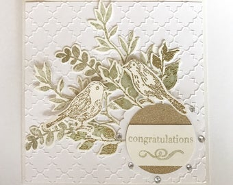 Gold Wedding Card | Engagement Card | Congratulations Card | Mr and Mrs | Mrs and Mrs | Mr and Mr | Bride and Groom | Wedding Card