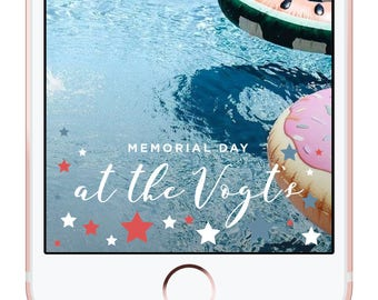Memorial Day Party Snapchat Filter