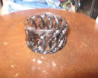 Vintage Black Gemstone Bracelet