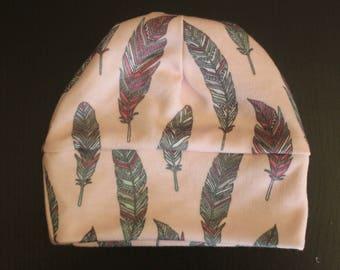 Newborn hat-Baby Accessories-Girl Newborn Hat-Baby Shower-3-6 months-Feathers