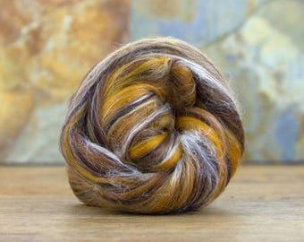 Merino/ Tussah Silk blended 100g Roving