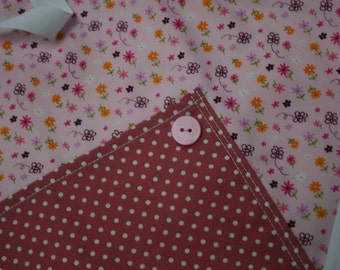 Girl's Apron - flowers and butterflies