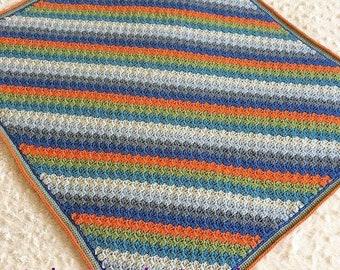 REDUCED Handmade crochet baby blanket, cot blanket, pram blanket, baby gift