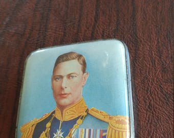 Rare Vintage, Unused King George VI Commemorative Compact Manufactured by Gwenda in England