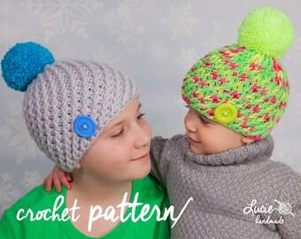 CrochetHat  PATTERN No.43 - Twisted Winter Hat Crochet Pattern