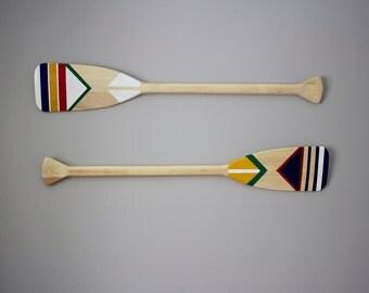 Hand painted canoe paddle