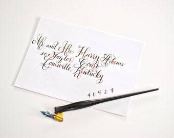 Flourished Harry Front-Custom Envelopes-Dip Pen Calligraphy