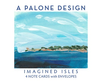 IMAGINED ISLES - 4 Note Cards with Envelopes