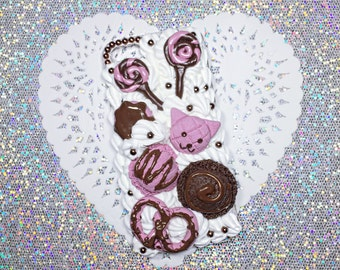 iPhone 5/5s Sweet Kawaii Strawb-Chocolate Decoden Case